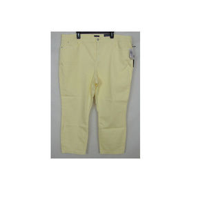 NEW NYDJ Women's Ankle Jeans Pale Lemon Size 22W